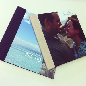 Hybrid fabric and printed photobook cover