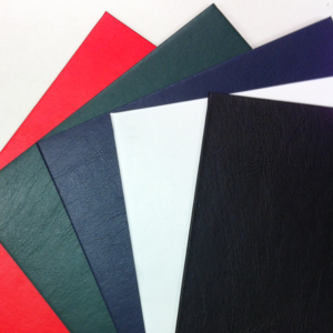 Leather look fabrics in a range of colours
